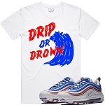 DRIP or DROWN - White w/ Red