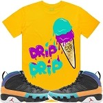 ICE CREAM (Drip Drip) - Golden Yellow w/ Purple & Aqua