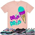 ICE CREAM (Drip Drip) - Salmon Pink w/ Purple & Aqua
