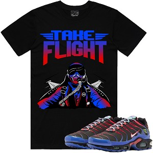 TAKE FLIGHT - Black w/ Red & Blue