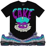 CAKE - Black w/ Purple & Aqua