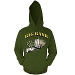 Pullover BIG BANK - Olive w/ Gold