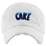 Dad Hat CAKE - White w/ Navy & Carolina