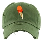 Dad Hat ICE CREAM - Olive W/ Orange