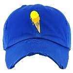 Dad Hat ICE CREAM - Royal w/ Yellow