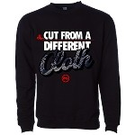 CUT CLOTH (Crewneck) - Black w/ Paisley