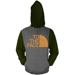 Pullover TO THE FACE - Olive and Charcoal w/ Cream