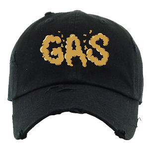 Dad Hat GAS - Black w/ Gold