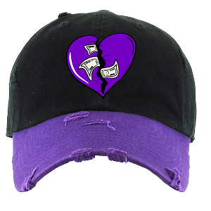 Dad Hat HEART - Black & Purple