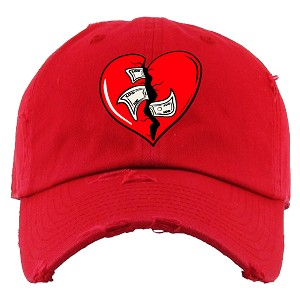 Dad Hat HEART - Red