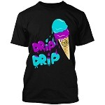 ICE CREAM (Drip Drip) - Black w/ Purple