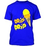 ICE CREAM (Drip Drip) - Royal Blue w/ Yellow