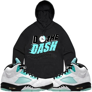 Pullover DO THE DASH - Black w/ Mint