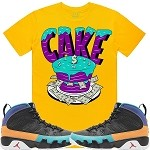 CAKE - Golden Yellow w/ Purple & Aqua