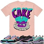 CAKE - Salmon Pink w/ Purple & Aqua