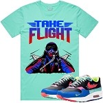 TAKE FLIGHT - Mint w/ Red & Blue