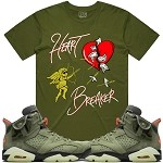 HEART BREAKER - Olive w/ Gold