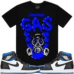 GAS - Black w/ Royal Blue