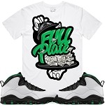 FULL PLATE - White w/ Green
