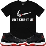 KIL SWOOSH - Black w/ Red