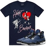 HEART BREAKER - Navy w/ Silver