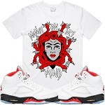 MEDUSA - White w/ Red