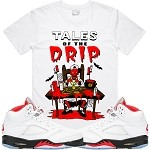 TALES DRIP - White w/ Red