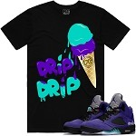 ICE CREAM - Black w/ Purple & Aqua