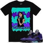 MASTERPIECE - Black w/ Purple & Aqua