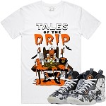 TALES DRIP - White w/ Orange