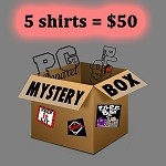 1 MYSTERY BOX - 5 shirts for $50