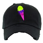 Dad Hat ICE CREAM - Black (Bel Air)