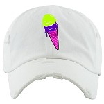 Dad Hat ICE CREAM - White (Bel Air)
