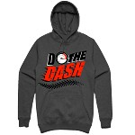 Pullover DO THE DASH - Charcoal w/ Red