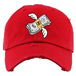 Dad Hat FLYING MONEY - Red
