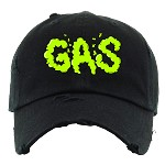 Dad Hat GAS - Black w/ Neon