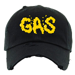 Dad Hat GAS - Black w/ Golden Yellow