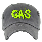 Dad Hat GAS - Dark Gray w/ Neon