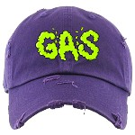 Dad Hat GAS - Purple w/ Neon