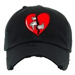 Dad Hat HEART - Black