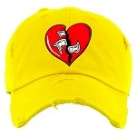 Dad Hat HEART - Yellow
