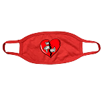 Face Mask HEART - Red