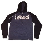 Pullover LIFTED - Black and Charcoal w/ Silver