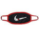 Face Mask SWOOSH - Black w/ Red