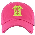 Dad Hat TRAPPA - Hot Pink w/ Neon