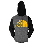Pullover TO THE FACE - Black and Charcoal w/ Golden Yellow