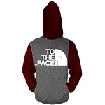 Pullover TO THE FACE - Burgundy and Charcoal w/ White